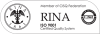 RINA certified quality system